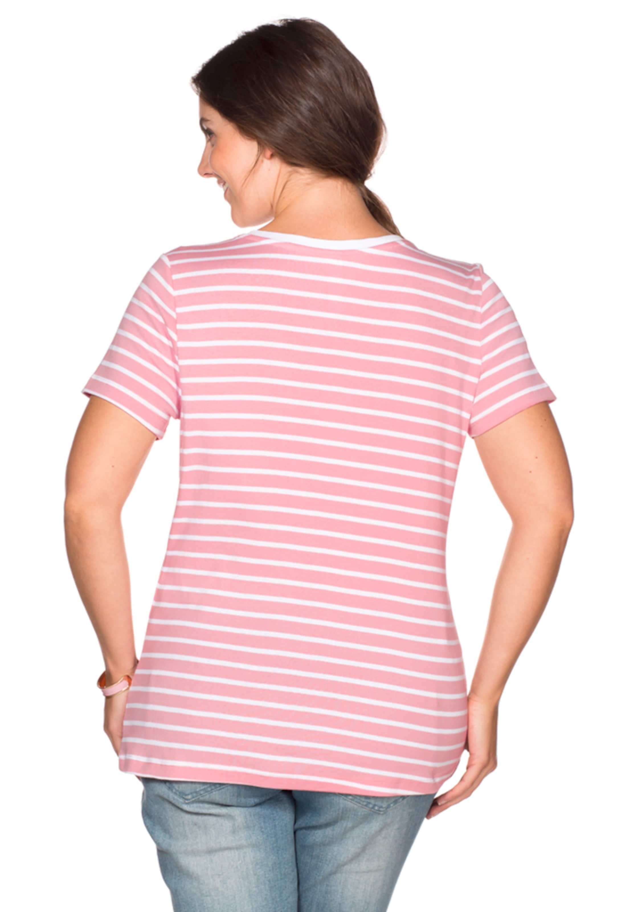 sheego casual Casual Basic T-Shirt V-Ausschnitt Low-Cost Verkauf Online 2018 Neueste Online LpnVnLXEqc