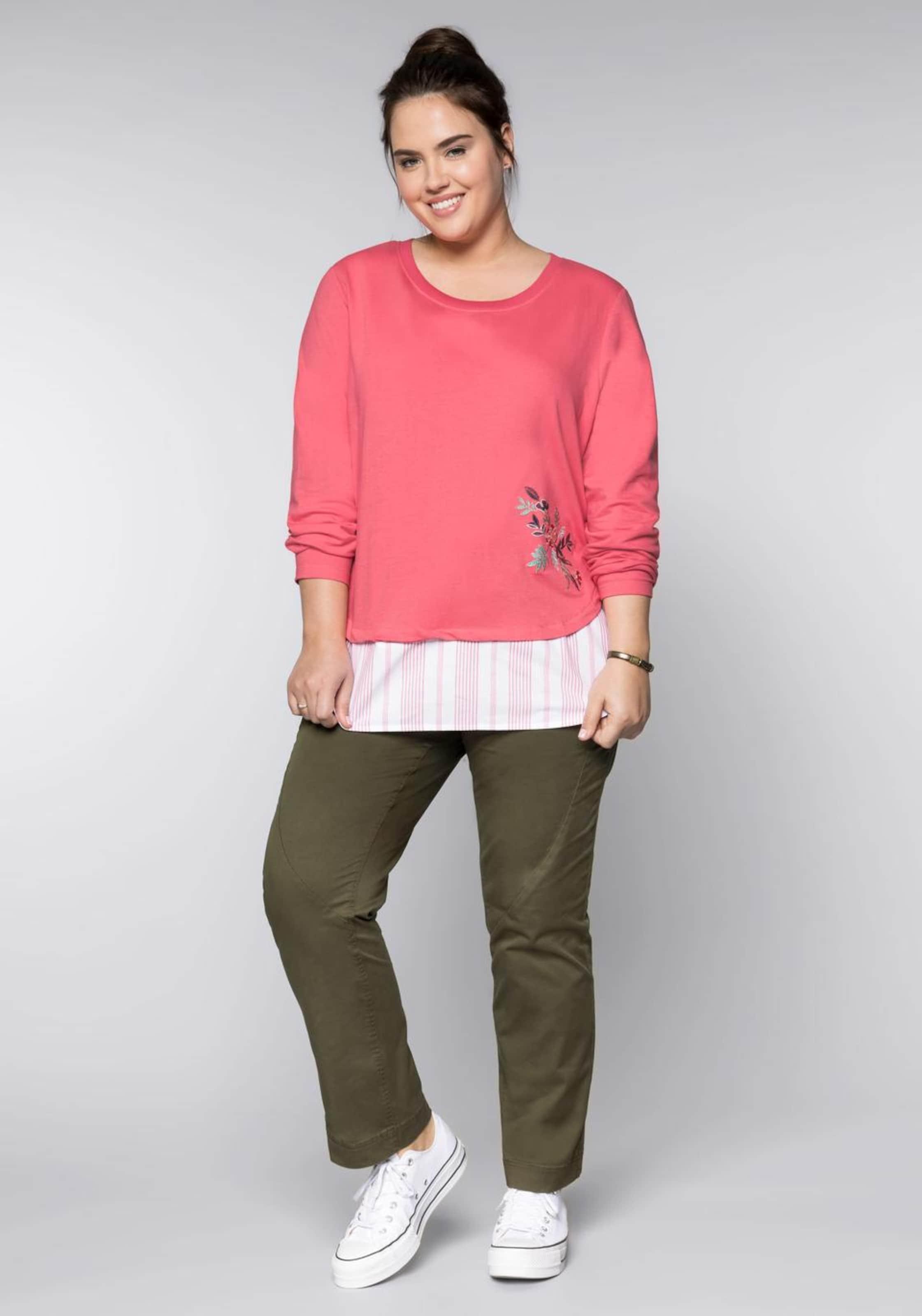 Sweatshirt Sheego In KoralleWeiß Sweatshirt Sheego Sheego In In KoralleWeiß Sweatshirt 7fb6gy