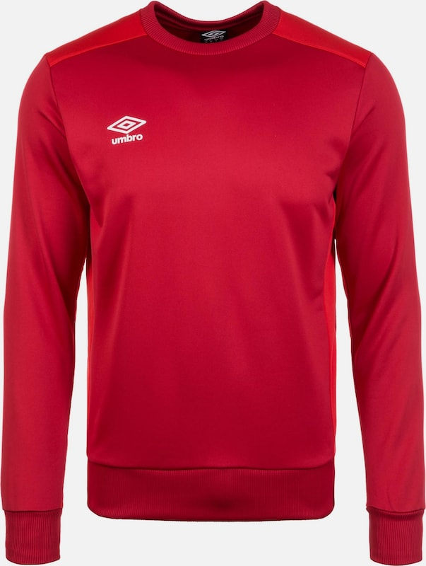 UMBRO Trainingssweat 'Poly' in rot / hellrot, Produktansicht