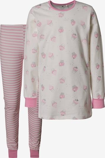 CELAVI Schlafanzug in rosa / weiß, Produktansicht