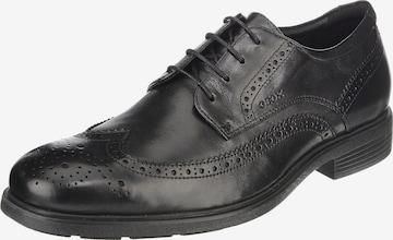 GEOX Обувки с връзки 'Dublin ' в черно