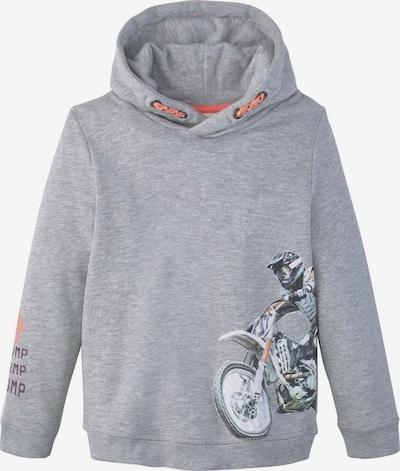 TOM TAILOR Strick & Sweatshirts Hoodie mit Print in grau, Produktansicht