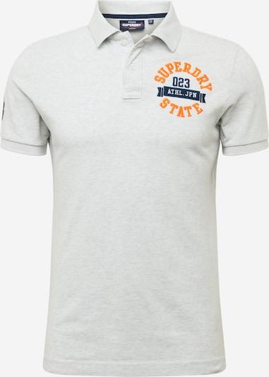 Superdry T-Shirt 'Classic Superstate' en bleu marine / orange / blanc chiné, Vue avec produit