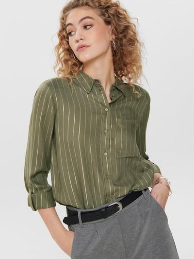 ONLY Bluse 'ONLNATALI L/S SHIRT WVN' in oliv, Modelansicht