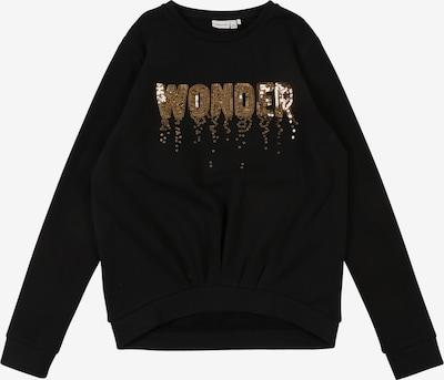NAME IT Sweat-shirt 'NKFRUBY LS SWEAT BRU BOX' en bronze / noir, Vue avec produit