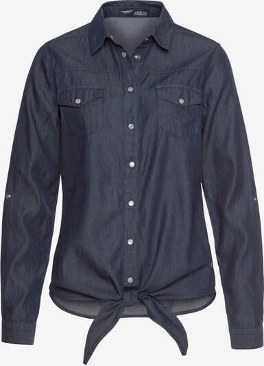 ARIZONA Jeansbluse 'Arizona - vorn zu knoten' in blau, Produktansicht