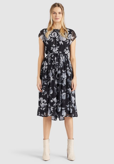 khujo Jumpsuit ' LOUANNA ' in grau / schwarz, Modelansicht