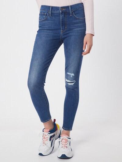 LEVI'S Jeans '720™ HR SUPER SKINNY ANKL' in blue denim, Modelansicht