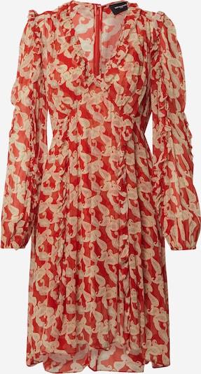 The Kooples Robe de cocktail 'ROBE' en nude / rouge, Vue avec produit