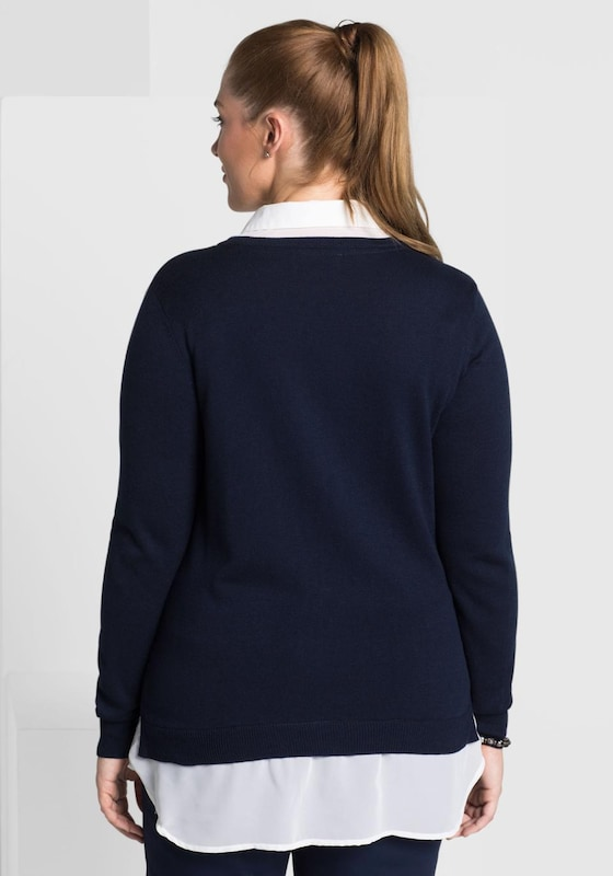 sheego class 2-in-1-Pullover