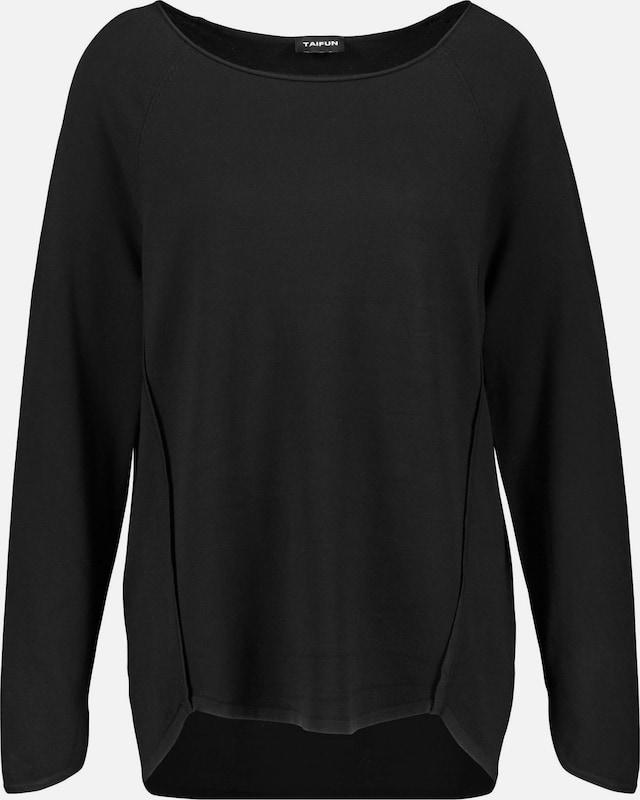 TAIFUN Pullover Pullover Pullover in schwarz  Große Preissenkung c18c76