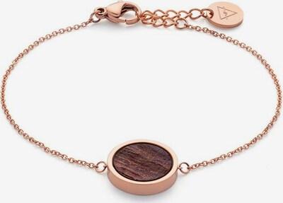 Kerbholz Armband 'Circle' in kastanienbraun / rosegold, Produktansicht