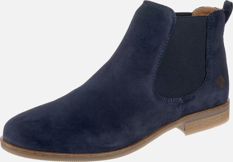 Apple of Eden Chelsea Boots 'Manon' in kobaltblau: Frontalansicht