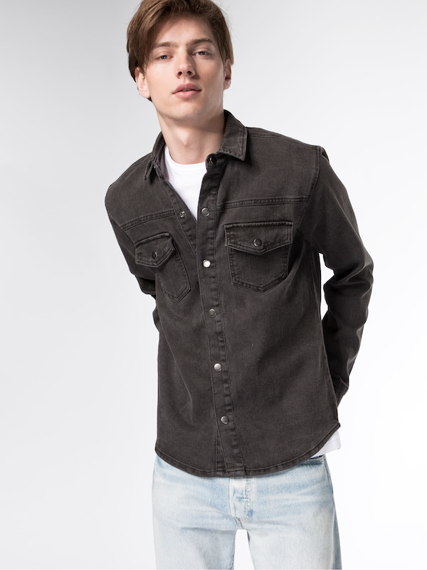 Only & Sons Jeanshemd 'onsLUCAS OVER SHIRT PRINT PK 9122'