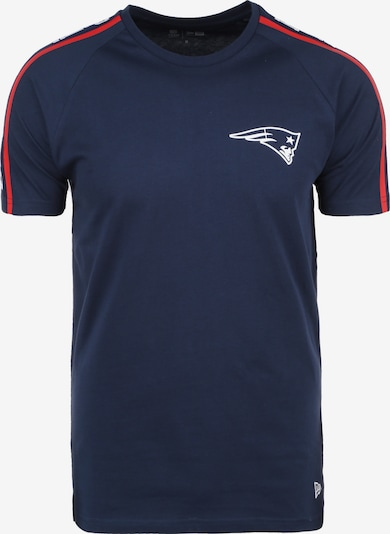 NEW ERA T-Shirt ' NFL Raglan Shoulder Print New England Patriots ' in dunkelblau / rot / weiß, Produktansicht