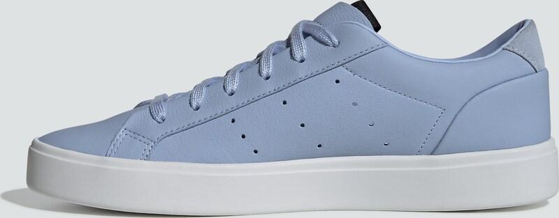 ClairBlanc Adidas Baskets Originals Basses Bleu 'sleek' En thrCBsdQx