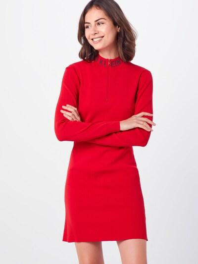 Calvin Klein Jeans Kleid in rot / schwarz, Modelansicht