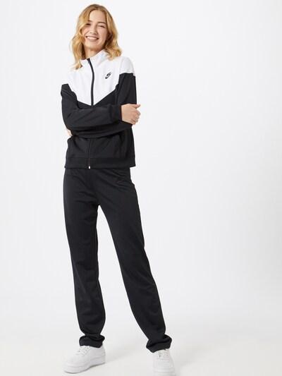 Nike Sportswear Tenue d'intérieur en noir / blanc: Vue de face