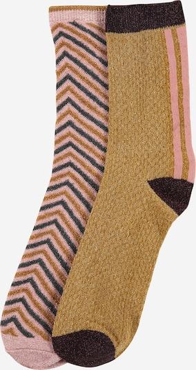 BeckSöndergaard Socken in blau / hellbraun / rosa / schwarz, Produktansicht