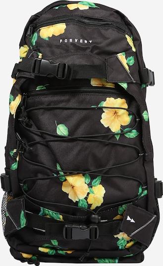 Forvert Rucksack 'Allover Louis' in gelb / grün / schwarz, Produktansicht