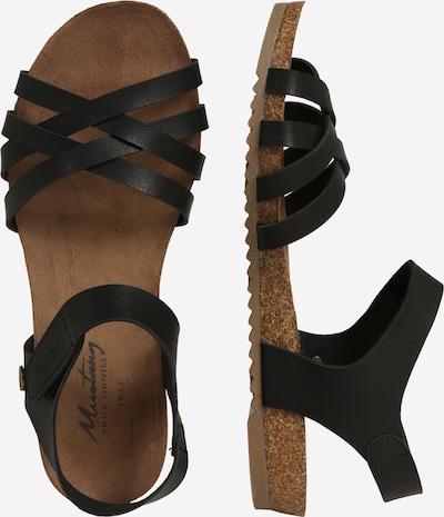 MUSTANG Sandale in schwarz: Seitenansicht