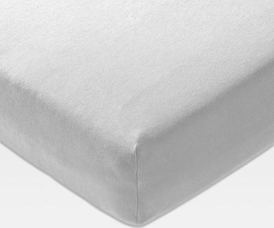 JOOP! Spannbettlaken 'Mako Jersey' in grau, Produktansicht