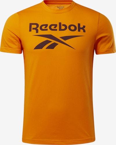 REEBOK Functioneel shirt in de kleur Sinaasappel / Zwart, Productweergave