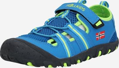 Atviri batai 'Kids Sandefjord Sandal' iš TROLLKIDS , spalva - mėlyna / žaliosios citrinos spalva, Prekių apžvalga