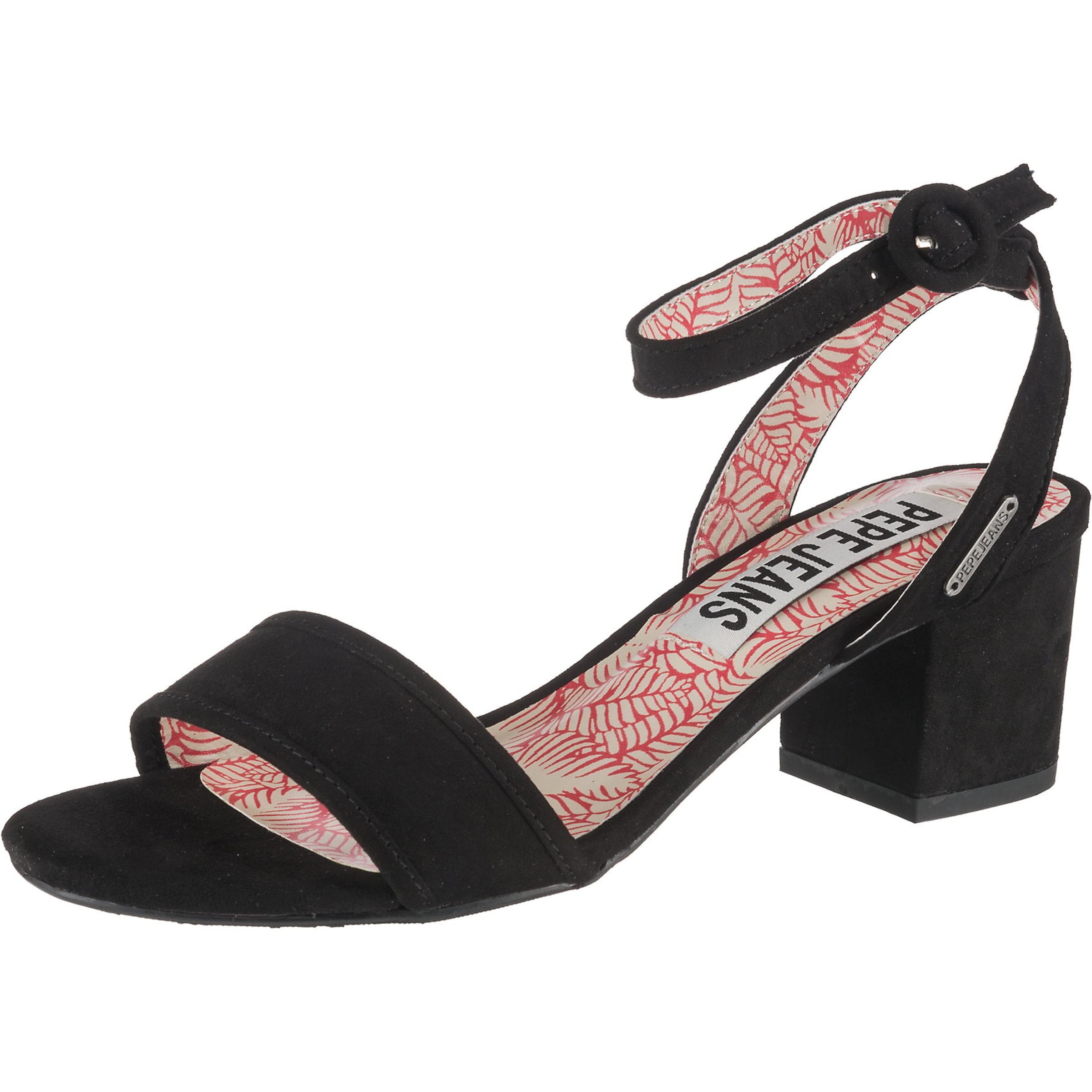 Sandales Jeans À Noir En Lanières Pepe c34ASq5RjL
