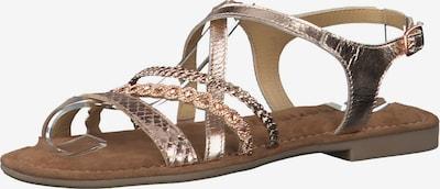 Sandale cu baretă TAMARIS pe auriu - roz, Vizualizare produs