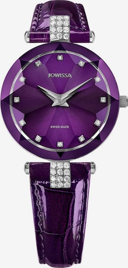 JOWISSA Quarzuhr 'Facet Strass' Swiss Ladies Watch in lila, Produktansicht
