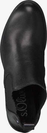 Chelsea batai iš s.Oliver , spalva - juoda: Vaizdas iš viršaus
