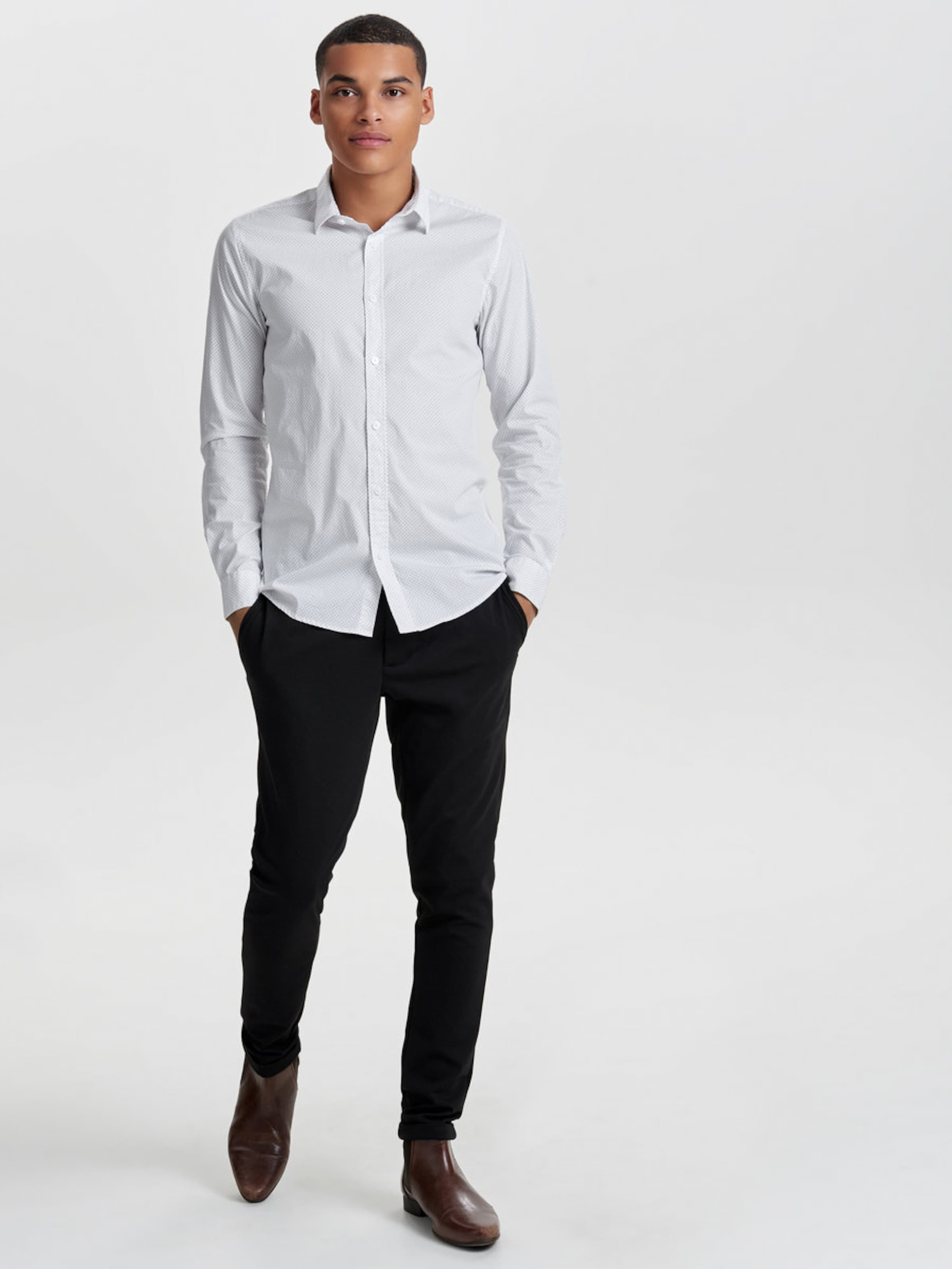 Only & Sons Langarmhemd Slim Fit Rabatt Vermarktbare Billig Empfehlen Zu Verkaufen Authentische Online Kaufen KlTaeD1Sm9