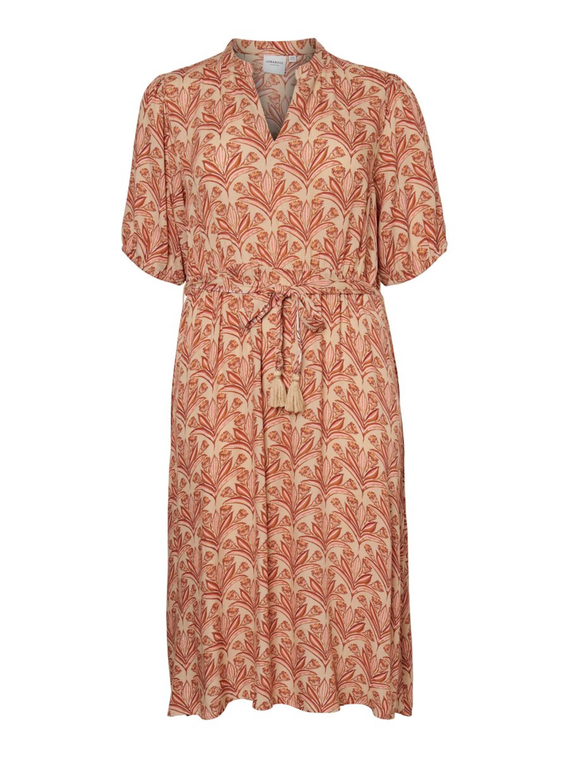 Junarose Kleid in beige / rosa