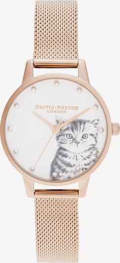Olivia Burton Uhr in rosegold / weiß: Frontalansicht