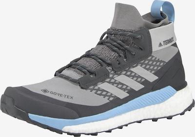 Auliniai batai iš ADIDAS PERFORMANCE , spalva - šviesiai mėlyna / šviesiai pilka / tamsiai pilka: Vaizdas iš priekio