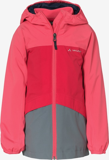 VAUDE Outdoorjacke 3 in 1 'Escape' in grau / rot / hellrot, Produktansicht
