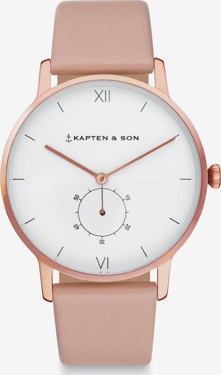 Kapten & Son Zegarek analogowy 'Heritage' w kolorze różanym, Podgląd produktu
