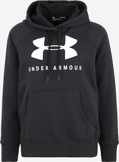 UNDER ARMOUR Sportief sweatshirt in de kleur Zwart / Wit, Productweergave