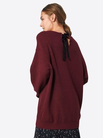 ABOUT YOU Pullover 'Maren' in bordeaux: Rückansicht