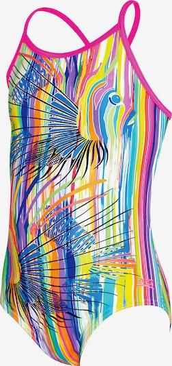 Zoggs Badeanzug 'Tropix Bella' in blau / gelb / jade / pink, Produktansicht