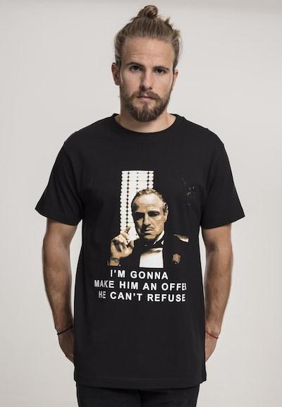 Mister Tee T-Shirt 'Godfather Refuse' in beige / schwarz / weiß: Frontalansicht