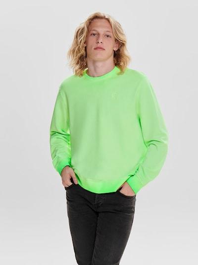 Only & Sons Sweat-shirt en vert fluo: Vue de face
