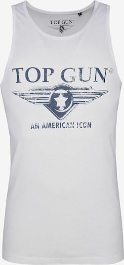 TOP GUN Top 'Pray' in de kleur Donkerblauw / Wit, Productweergave