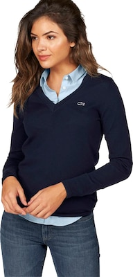LACOSTE Pullover mit Label-Applikation