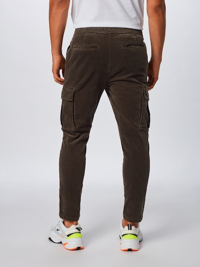Laisvo stiliaus kelnės 'Slim-Truc Cargo Corduroy' iš !Solid , spalva - ruda: Vaizdas iš galinės pusės