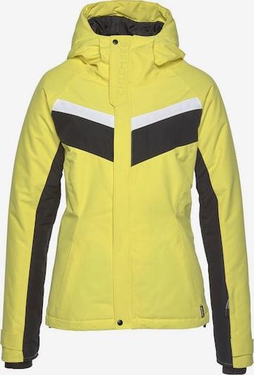CHIEMSEE Outdoorjas in de kleur Geel / Zwart / Wit, Productweergave
