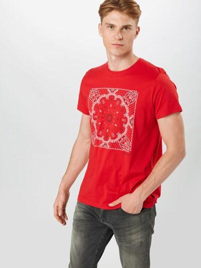 ESPRIT Koszulka w kolorze szary / czerwony / naturalna bielm: Widok z przodu