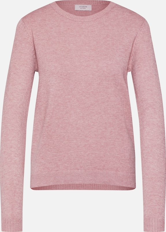JACQUELINE de YONG Pullover 'MARCO' in rosa: Frontalansicht