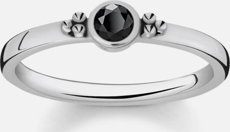 Thomas Sabo Fingerring 'Royalty Schwarzer Stein, TR2154-643-11'